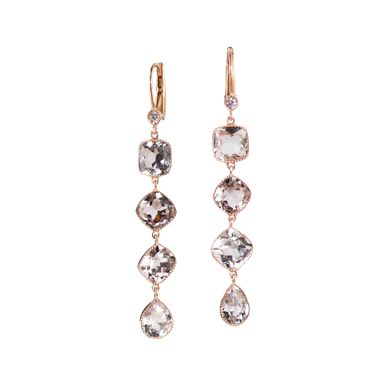 TOURMALINE AND DIAMOND DROP EARRINGS