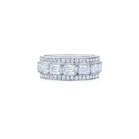 ASHOKA® AND ROUND DIAMOND ETERNITY RING