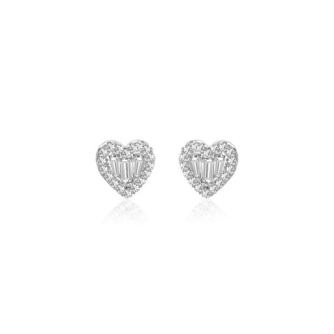 Meira T Diamond Heart Studs