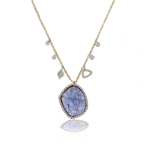 Meira T Rose Gold Tanzanite Diamond Necklace