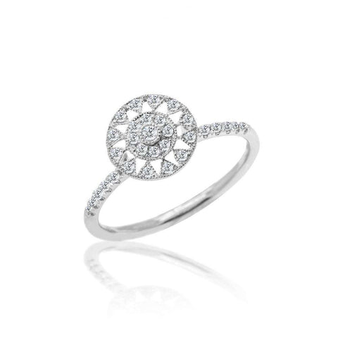 Meira T Antique Diamond Sun Ring