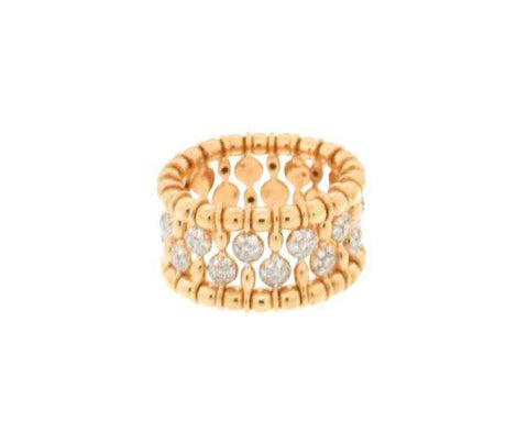 HULCHI BELLUNI GOLD & DIAMOND BEAD STRETCH BAND