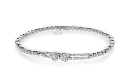 Hulchi Belluni Sliding Bezel Diamonds Stretch Bracelet