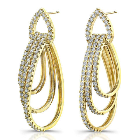 Norman Silverman Diamond Pave Teardrop Earring