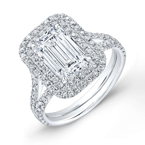 Norman Silverman Emerald Cut Solitaire Engagement Ring