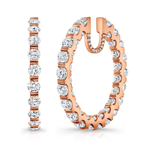 Rahaminov Medium In & Out Hoops