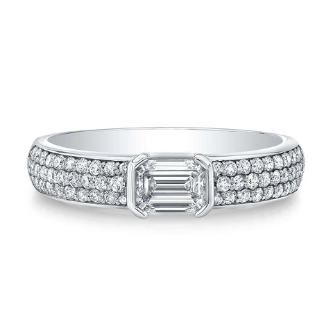 Norman Silverman Diamond Encrusted Stackable Ring