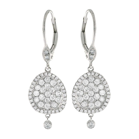 Meira T Pave Drop Diamond Earrings