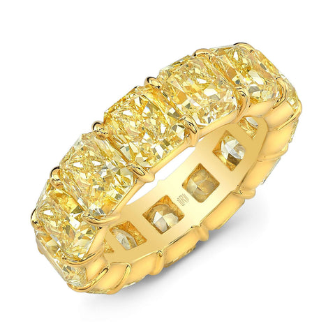 Rahaminov Fancy Intense Yellow Eternity Band