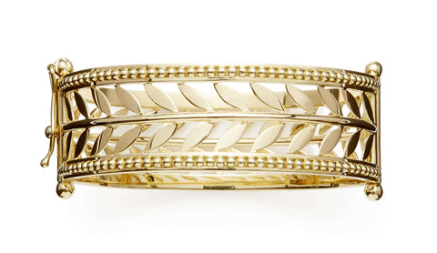 Temple St. Clair Yellow Gold Cuff Bracelet