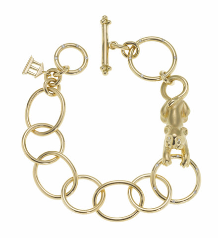 Temple St. Clair Gold Lion Cub Link Bracelet