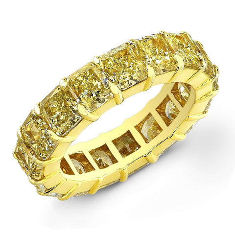 Rahaminov Full Diamond Band of Fancy Yellow Diamonds