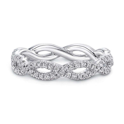 NORMAN SILVERMAN PAVE DIAMOND SWIRLING BAND