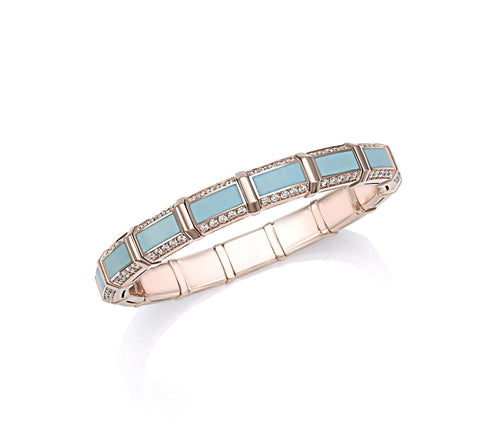 Picchiotti Rose Gold and Turquoise Bracelet