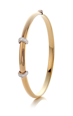 Rudolf Friedmann Bangle with Diamond Accents