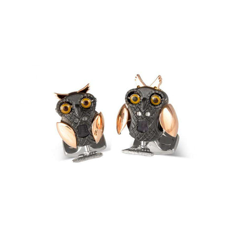 Deakin & Francis Moving Owl Cufflinks