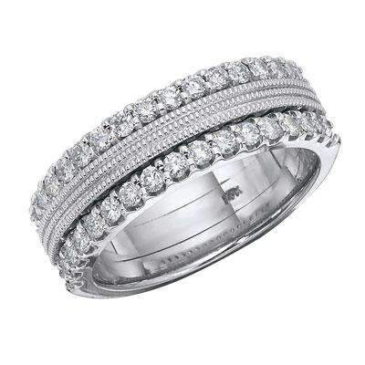 DOUBLE ROW DIAMOND BAND WITH MILGRAIN DETAIL