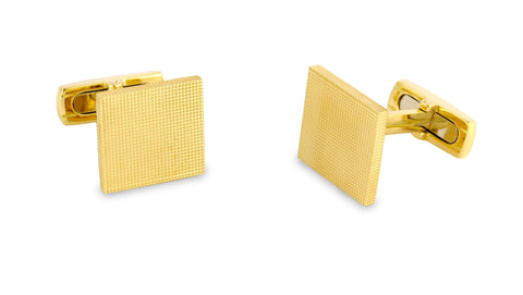 Deakin & Francis Yellow Gold Square Cufflinks