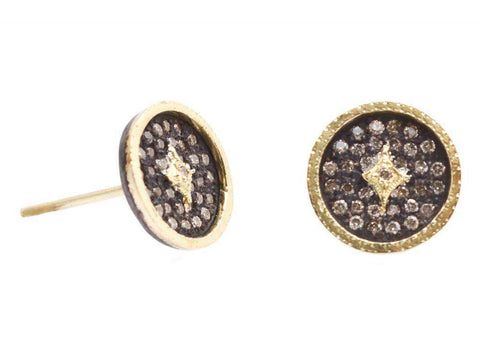 Armenta Old World Disc Studs