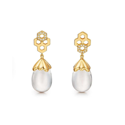 Temple St. Clair 18k Beehive Amulet Drop Earrings