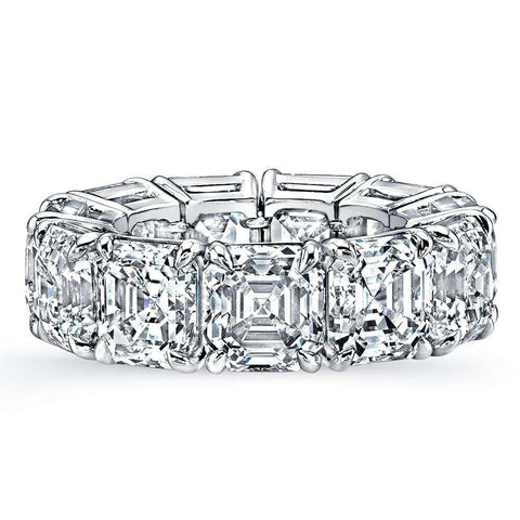 NORMAN SILVERMAN ASSCHER DIAMOND ETERNITY BAND