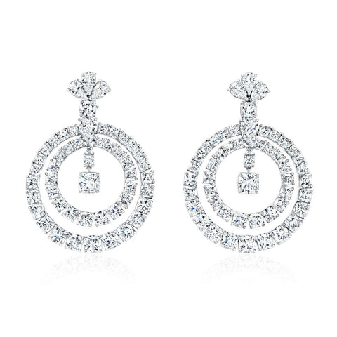 Normsn Silverman Double Open Circle earring