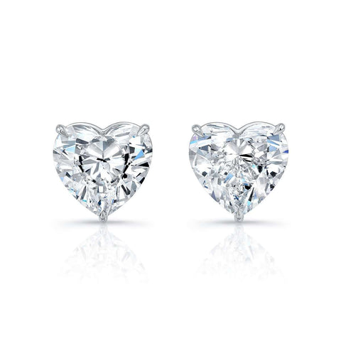 Norman Silverman Heart Shaped diamond Stud