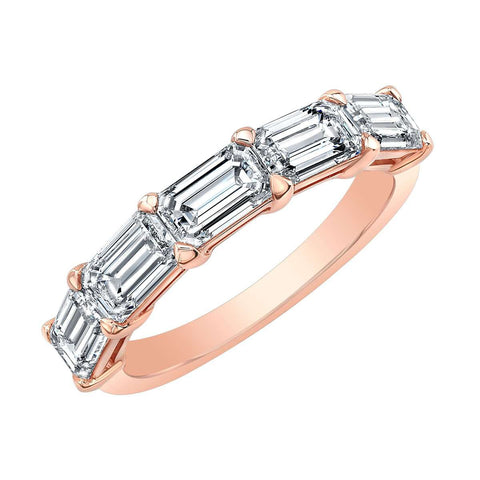 NORMAN SILVERMAN EMERALD CUT DIAMOND TOP BAND