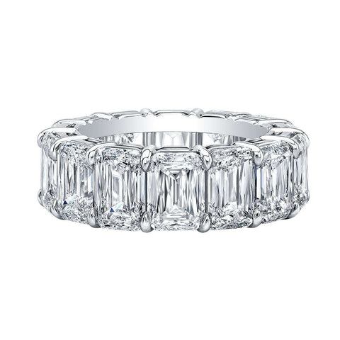 NORMAN SILVERMAN MODIFIED EMERALD CUT DIAMOND BAND