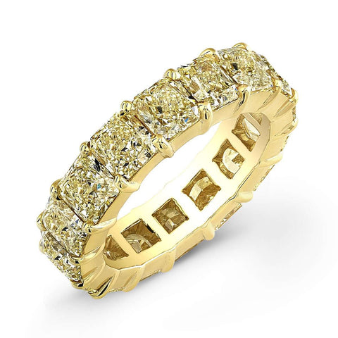 NORMAN SILVERMAN YELLOW RADIANT CUT DIAMOND BAND