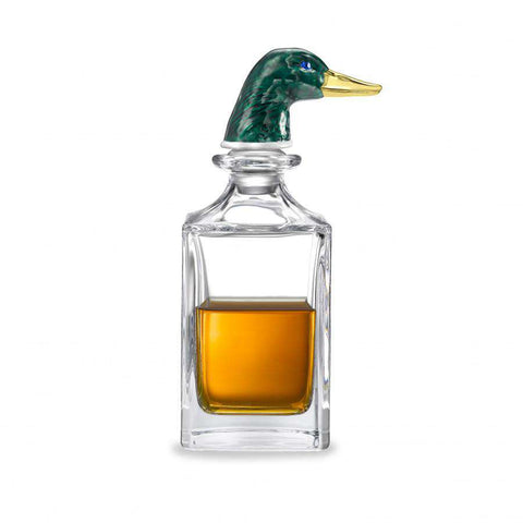 Deakin & Francis Green Duck Head Crystal Decanter