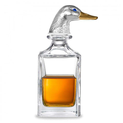 Deakin & Francis Silver Duck Head Crystal Decanter