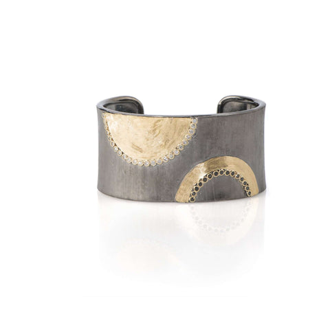 JOHN APEL GOLD AND SILVER CUFF BRACELET