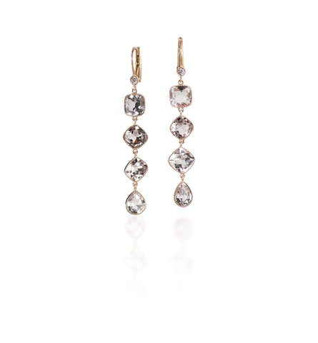 JOHN APEL TOURMALINE & DIAMOND DROP EARRINGS