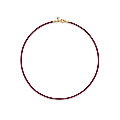 Temple St. Clair 18K Crimson Leather Cord