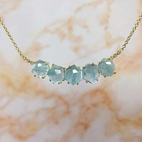 Lauren K Aquamarine Necklace