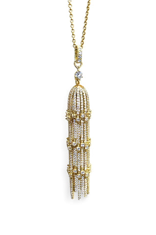 Norman Covan Gold Tassel Necklace