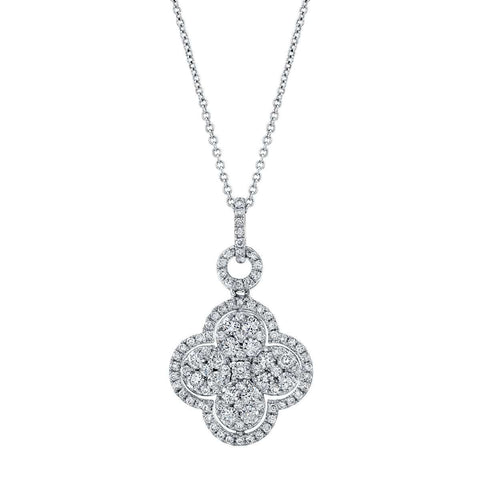 Norman Silverman Clover Drop Diamond Pendant