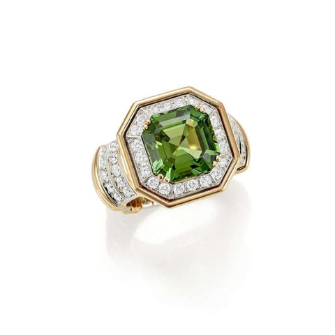 Picchiotti Gold, Diamond & Emerald Ring