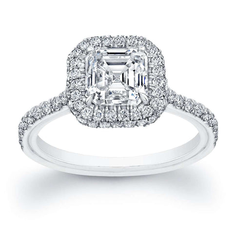 NORMAN SILVERMAN ASSCHER DIAMOND ENGAGEMENT RING