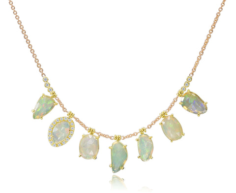LAUREN K OPAL DROP NECKLACE