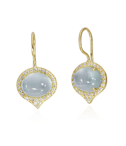 Lauren K Aquamarine & Diamond Earrings
