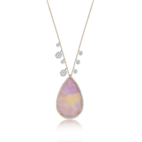 Meira T Amethyst Rose Gold Necklace