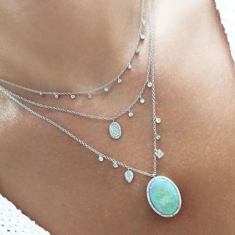 Meira T Opal Oval Necklace