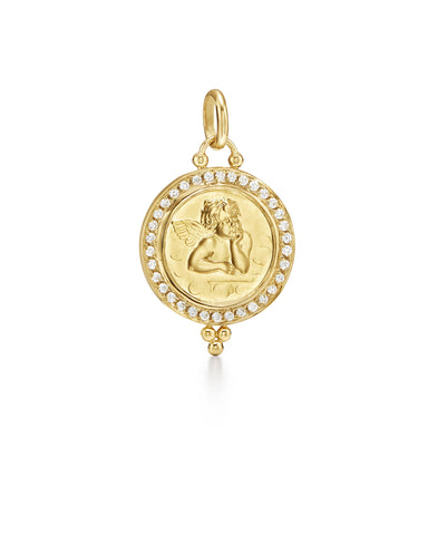 TEMPLE ST CLAIR DIAMOND PAVE ANGEL PENDANT