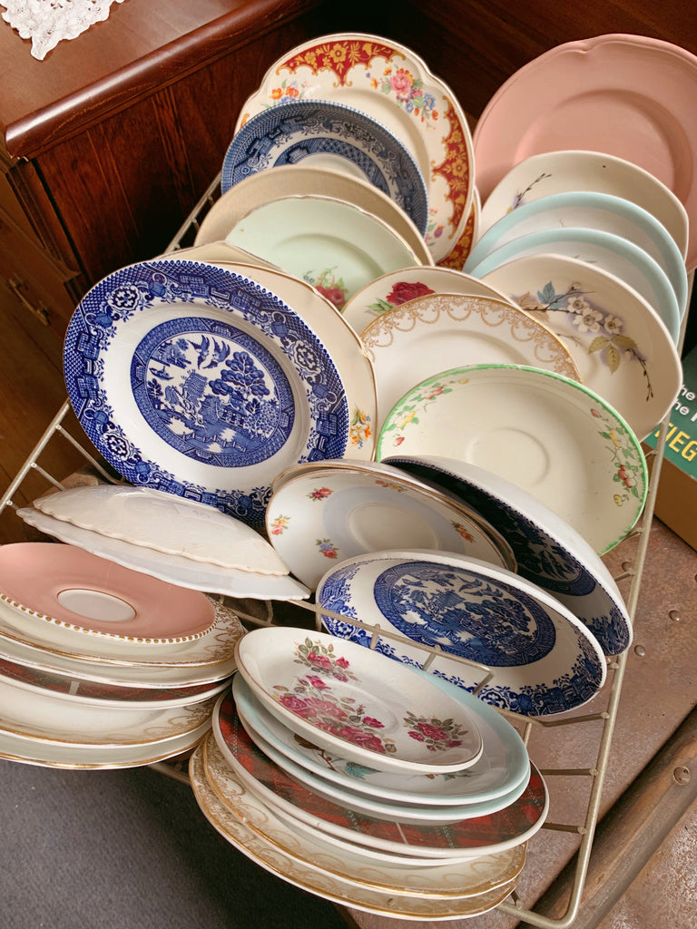 assorted vintage crockery