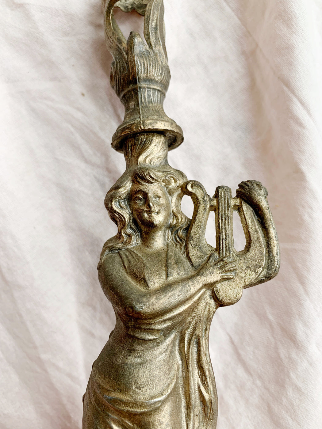 French Art Nouveau Lady Figure Epergne Circa 1880