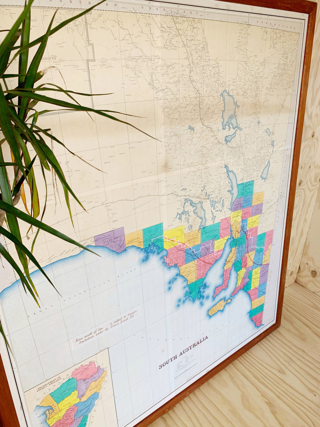 Huge 1960s Map of South Australia