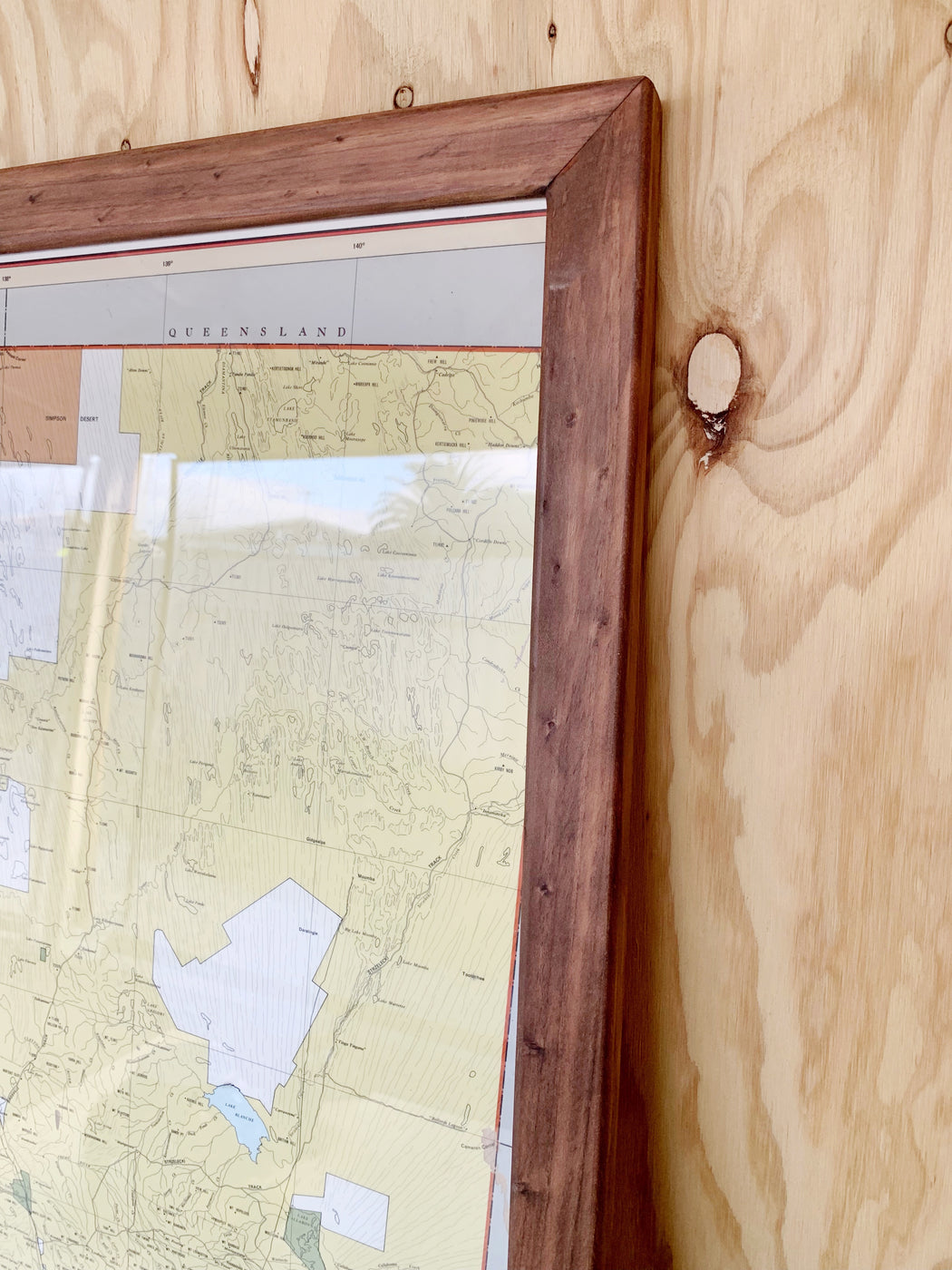 Huge Framed 1980s Map of South Australia | Storytellers Workshop