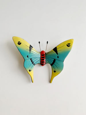 Vintage Ceramic Butterfly Wall Hanging